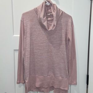 Gap soft spin cowl neck pink sweater size small